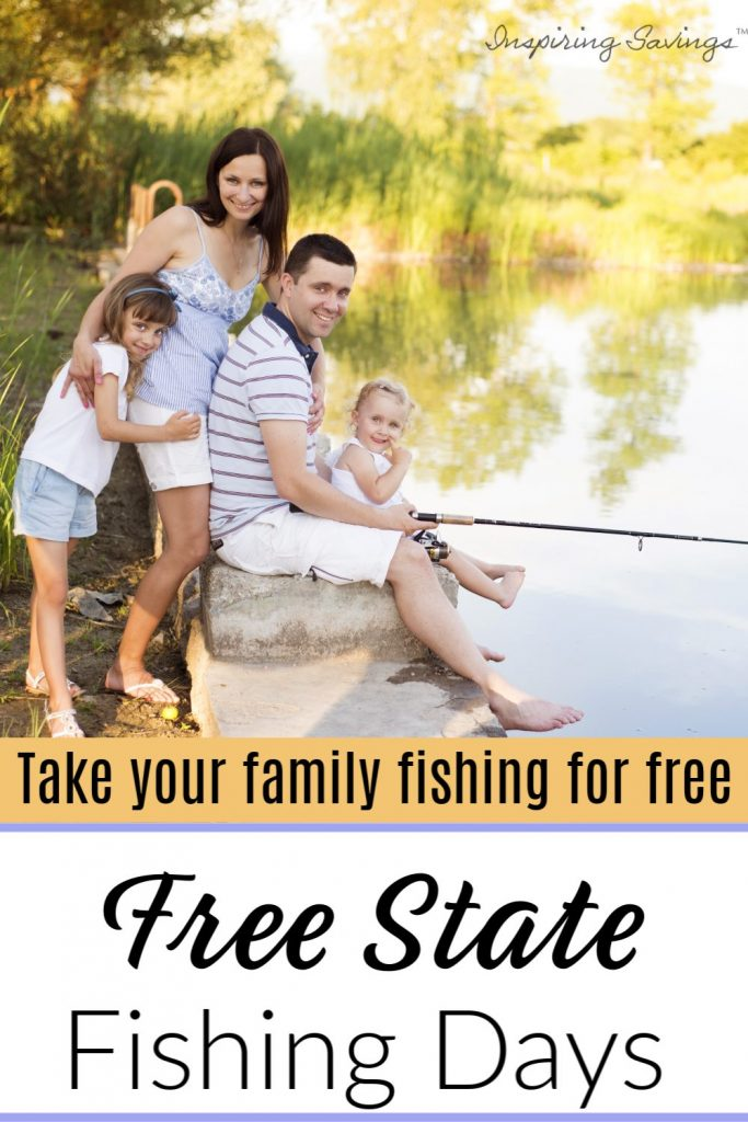 Free State Fishing Days -consider taking a friend or family member who has never been fishing, out on the water for the day.