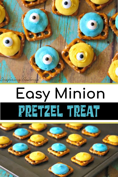 Easy Minion Pretzel Treat