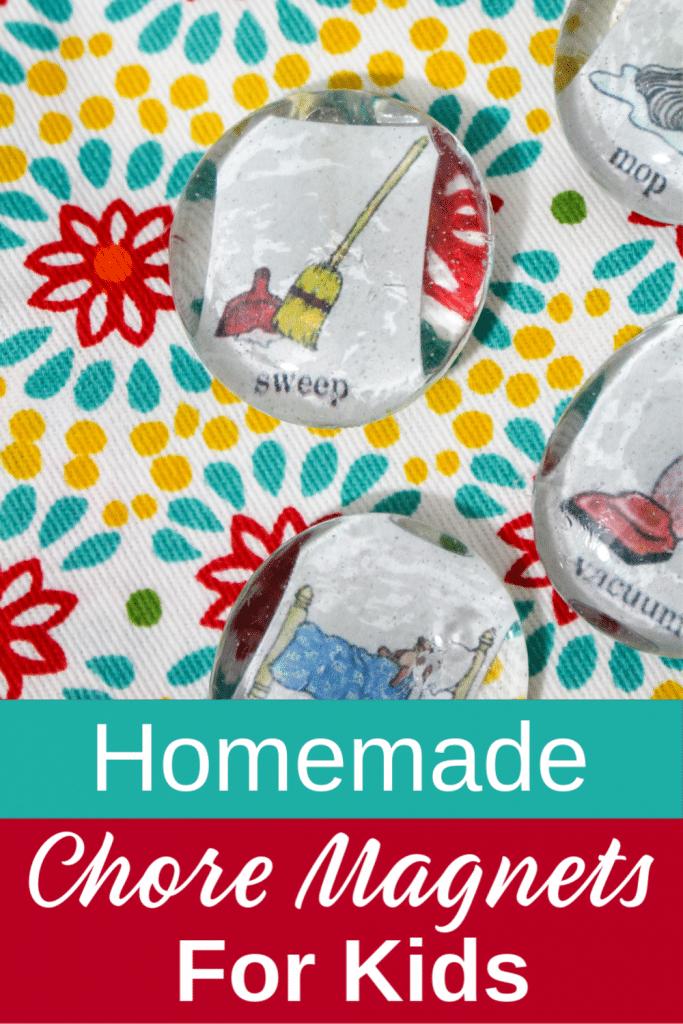 Homemade Chore Magnets for kids