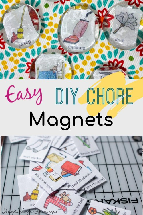 Easy DIY Chore Magnets