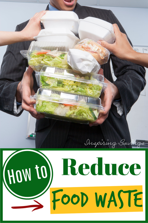 man holding containers of take out food - How to reduce food waste
