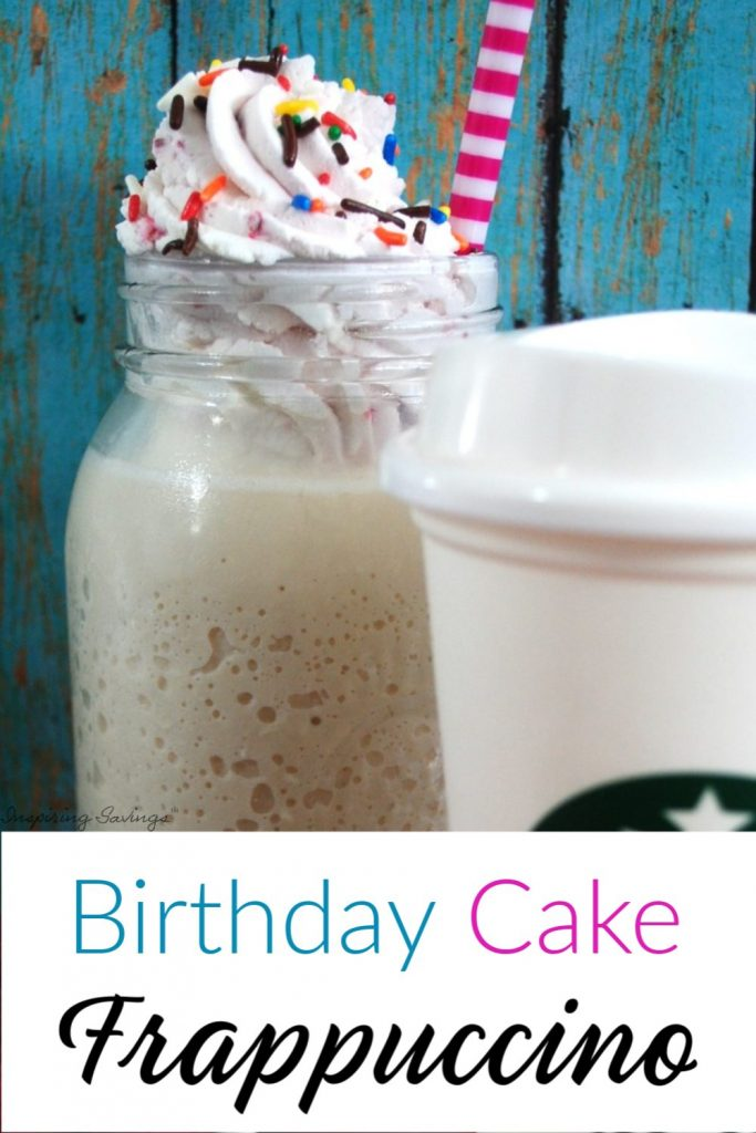 Birthday Cake Frappuccino - Starbucks copycat recipe
