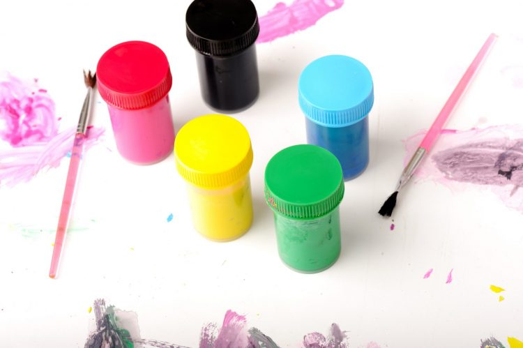 Creating watercolored paints with Kool-aid