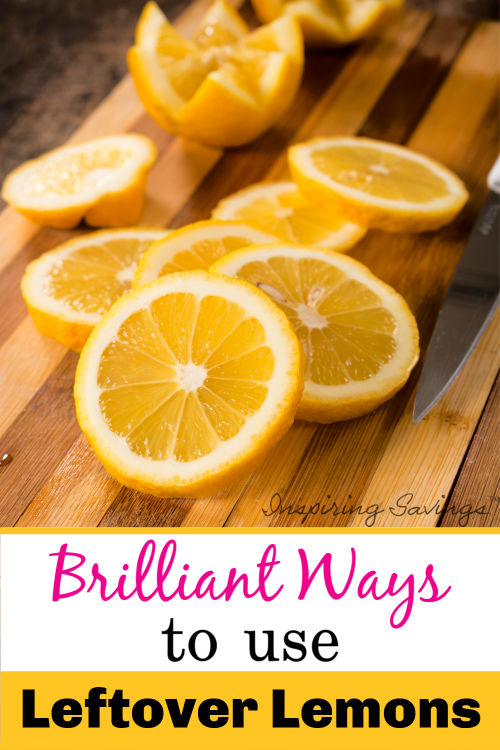 Lemons on cutting board - Brilliant Ways To Use Leftover Lemons Around The House.