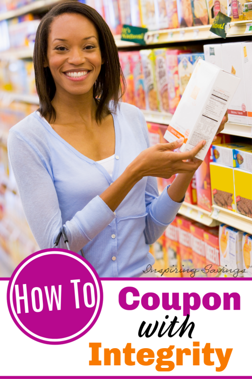 Woman shopping in grocery store - How to Coupon with Integrity