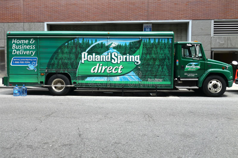 Poland Spring Delivery truck
