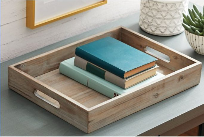 better homes and gardens tabletop wooden tray