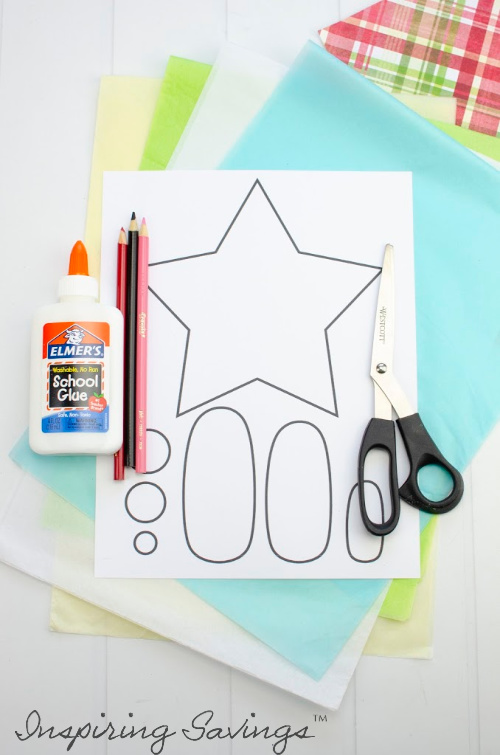 Supplies needed DIY Tissue Paper Christmas Nativity Craft For Kids