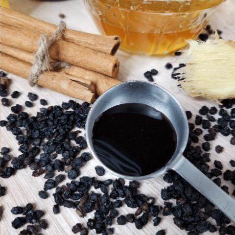 Homemade Elderberry Syrup Recipe - Made with Raw Honey & Vinegar