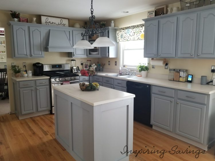 The best way to paint your kitchen cabinets - after painting
