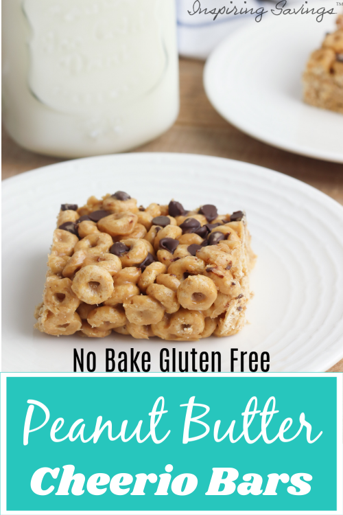 These No-Bake Peanut Butter Cheerio Bars are delicious, peanut buttery bars stuffed with Cheerios! Easy to make and gluten-free. Perfect for a sweet treat.