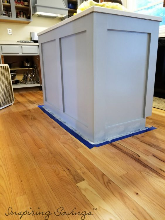 Painting Kitchen Cabinets - island