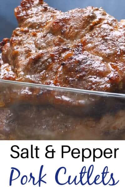 Salt pepper pork cutlets