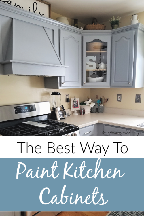 The Best Way To Paint Kitchen Cabinets Affordable Update