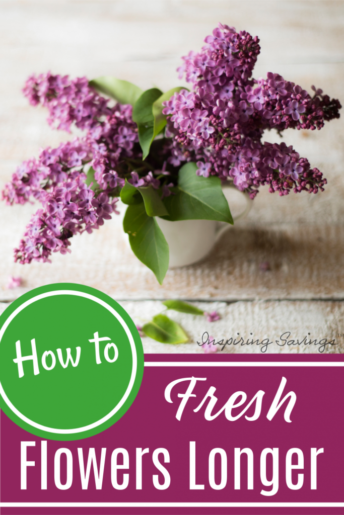 keep fresh flower lasting longer - vase on wood background