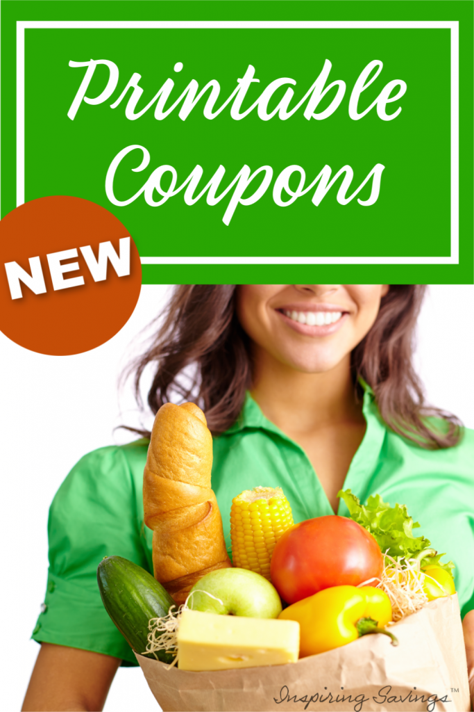New Printable Coupon - woman holding groceries in arms