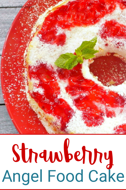 Stuffed Strawberry Angel Food Cake - Semi Homemade