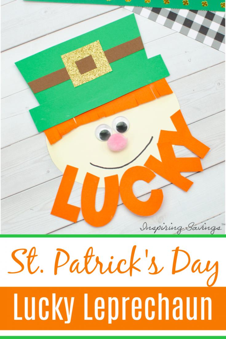 St. Patrick's Day Lucky Leprechaun Craft