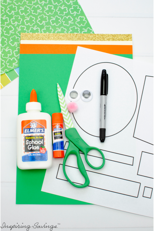 Supplies Needed for Lucky Leprechaun Craft