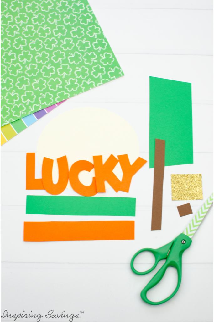 Templates Cut Out for Lucky Leprechaun Craft