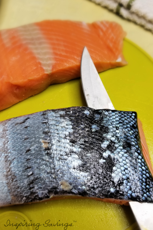 Filleting King Salmon for Salmon Burgers