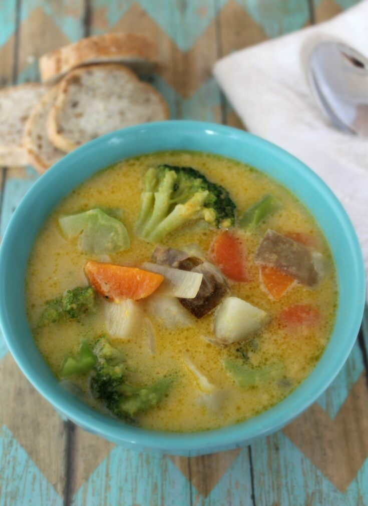 Cheesy Vegetable Chowder - Easy 30 Minute Meal