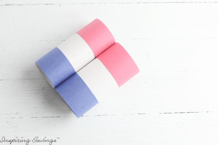 DIY Patriotic Fireworks Binoculars - Two toilet paper tube rolls put together