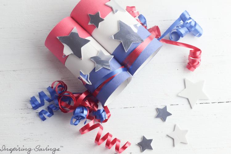 DIY Patriotic Fireworks Binoculars - Made From Toilet Paper Tubes