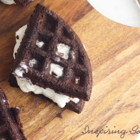Brownie Waffle Ice Cream Sandwiches