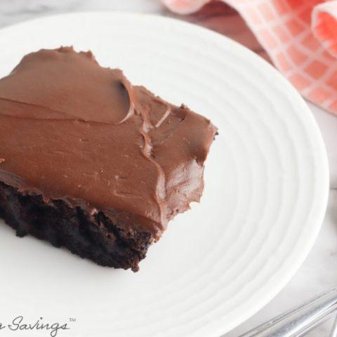Chocolate Depression Cake Recipe - No Eggs, Milk or Butter (Gluten Free)
