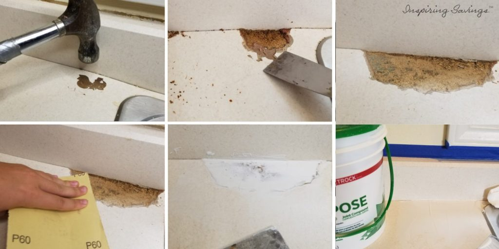 Repairing counter tops before  upgrading them