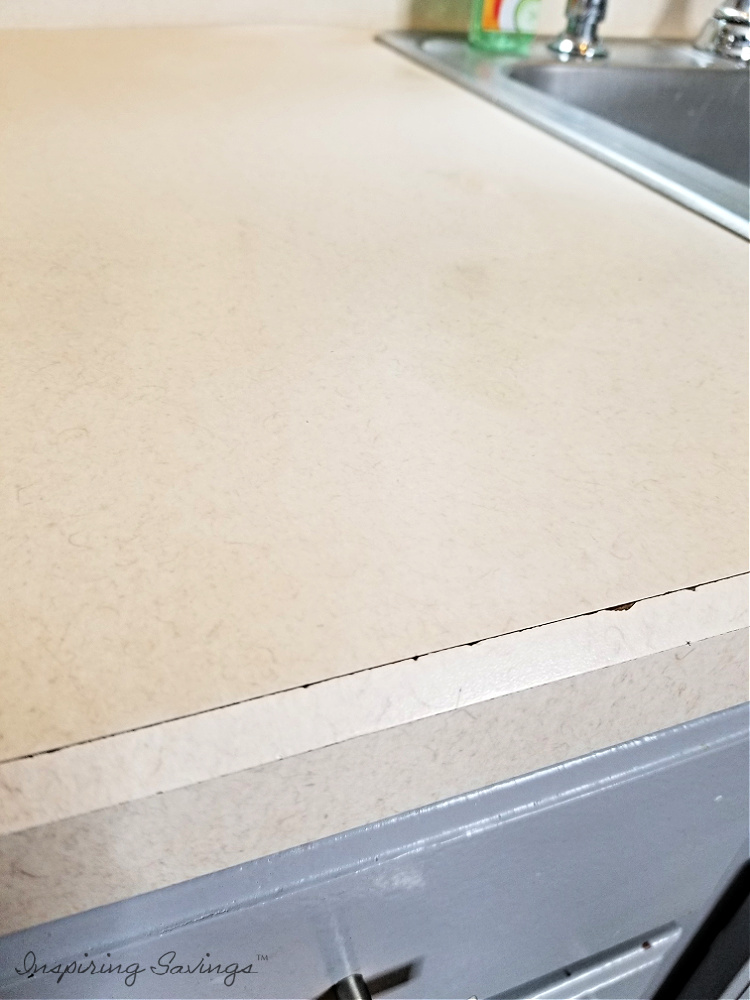 Counter top Damage before kitchen counter top refinishing kit