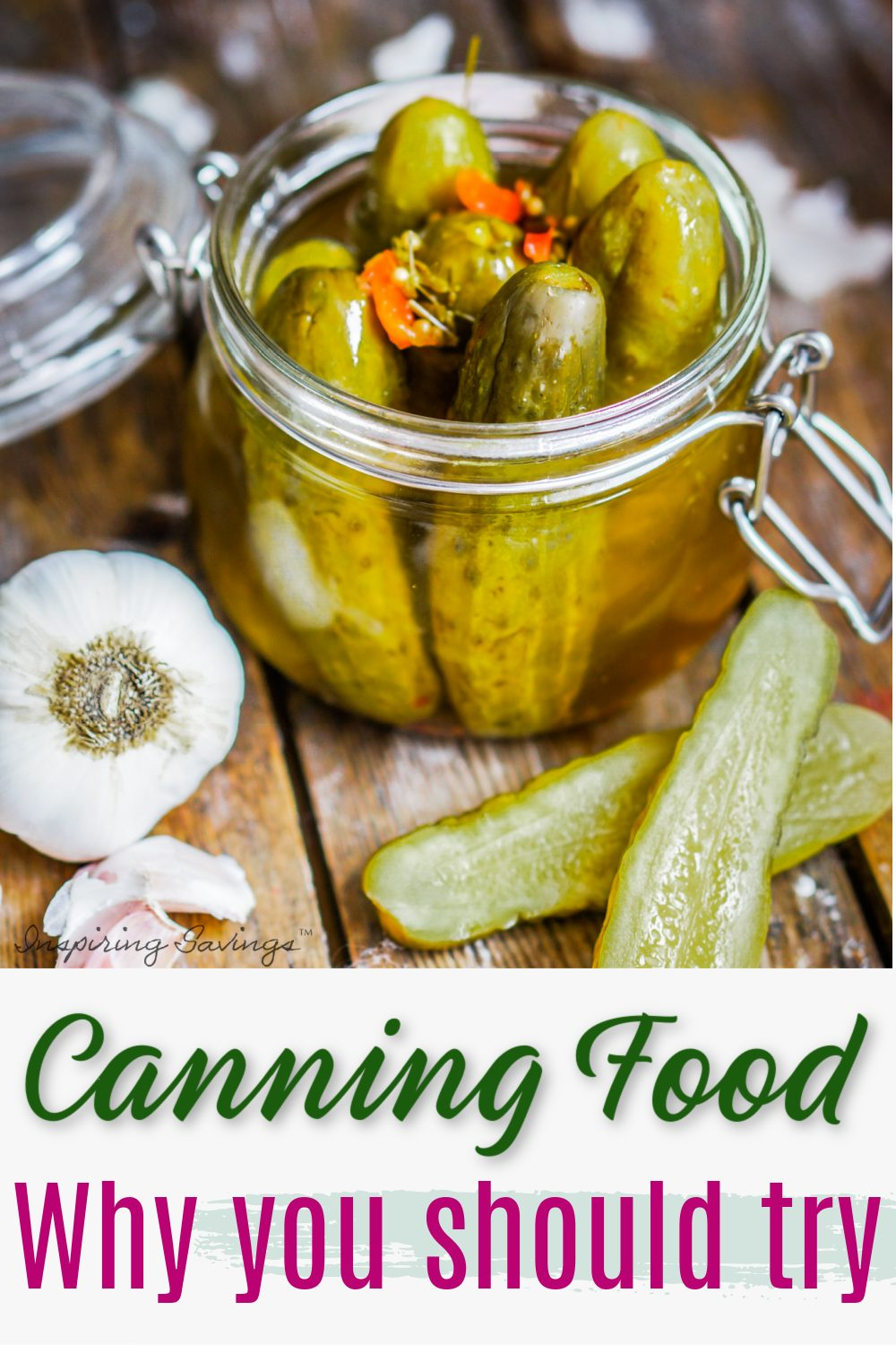 canned jar of pickles - home canning