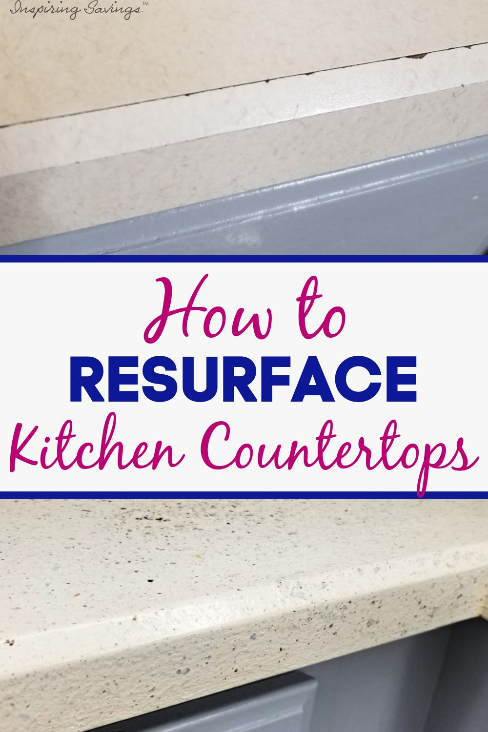 Before & after pictures of resurfacing kitchen countertops -How to resurface kitchen countertops