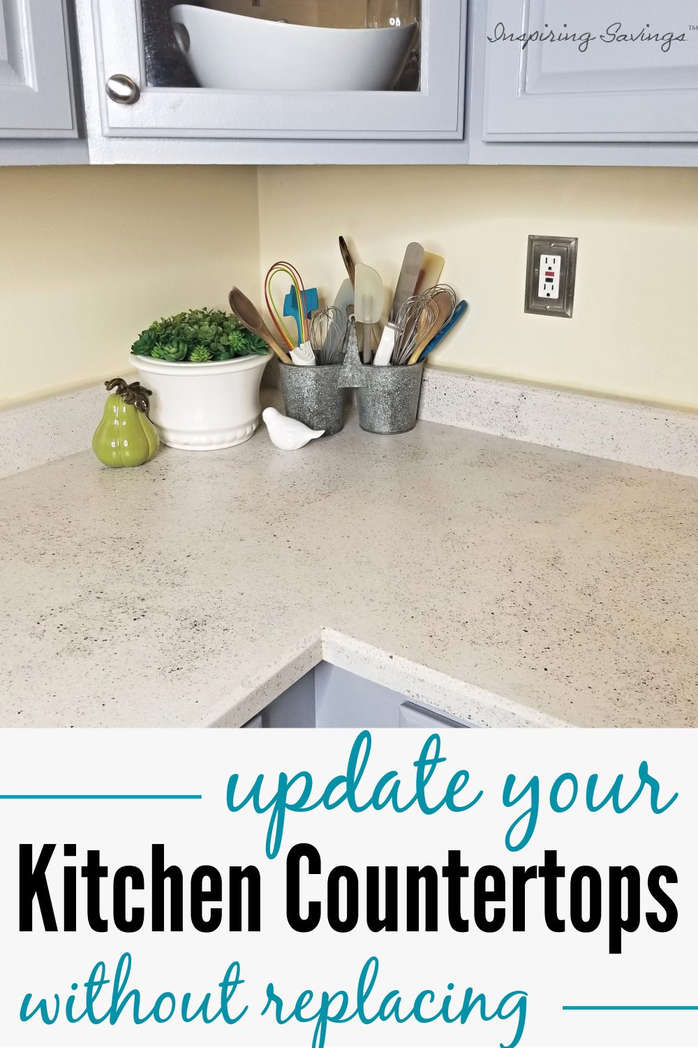 Updated Kitchen Countertops after using spreadstone finishing kit
