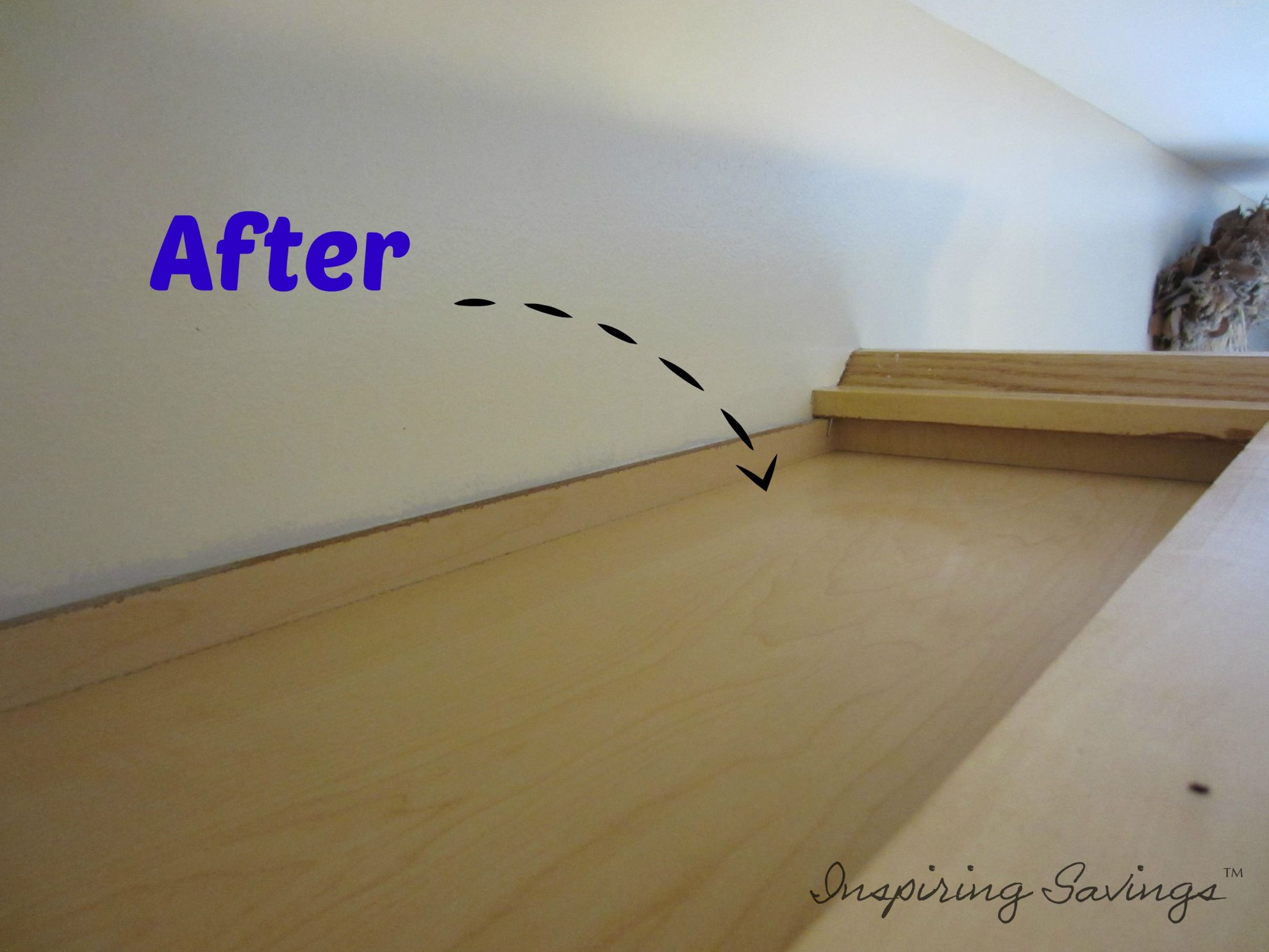 Tops of kitchen cabinets after Using An All Natural Kitchen Degreaser