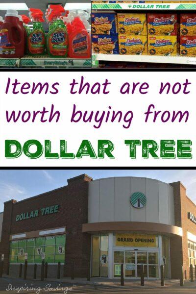Dont Buy at Dollar Tree