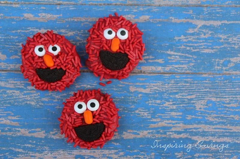 Adorable Elmo Cookies - Sesame Street on blue background
