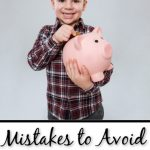 Mistakes teaching kids about money
