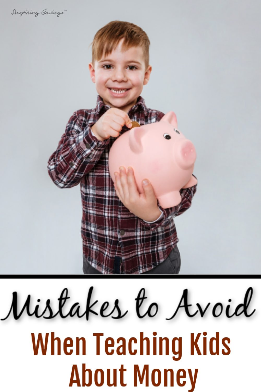 Boy holding piggy bank - Mistakes to avoid when teaching kids about money