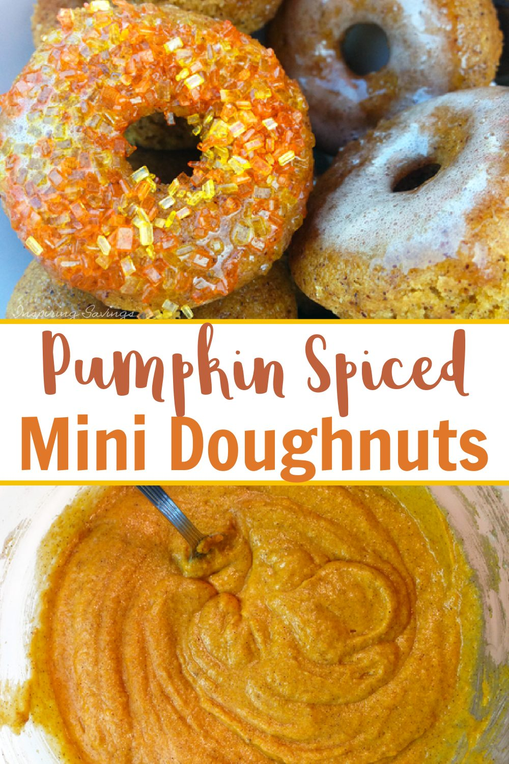 Pumpkin Spiced mini doughnuts