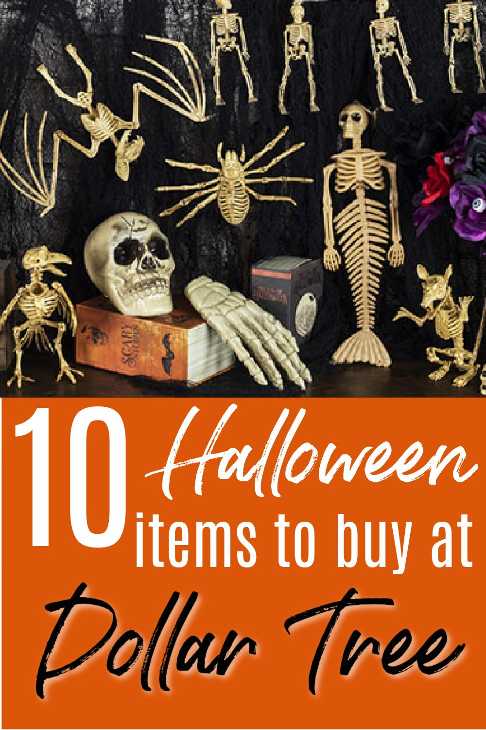 Skeletons for decorations from the dollar tree