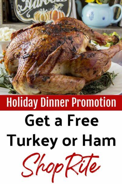 ShopRite Free Turkey or ham promotion