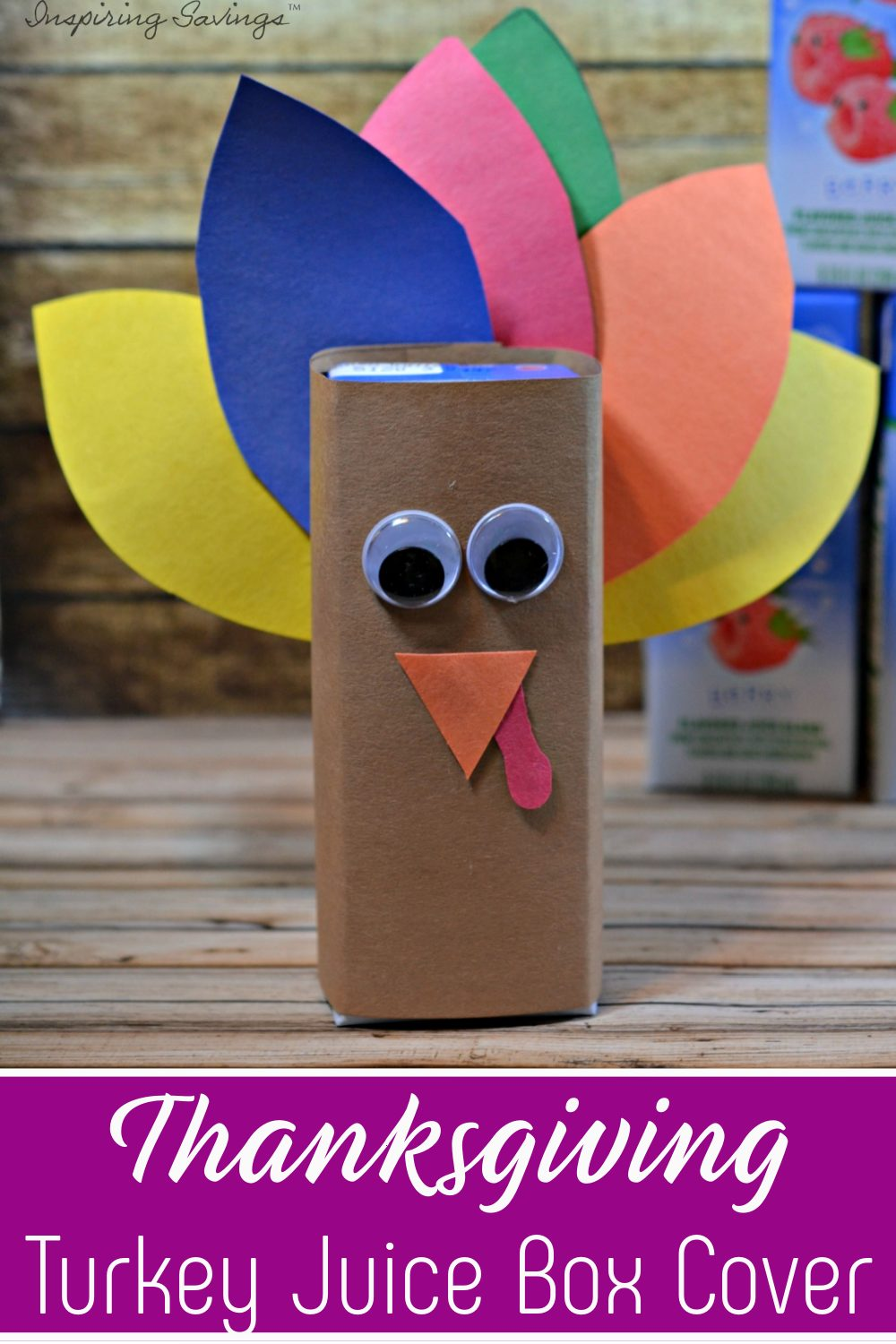 Thanksgiving Turkey Juice Box Cover