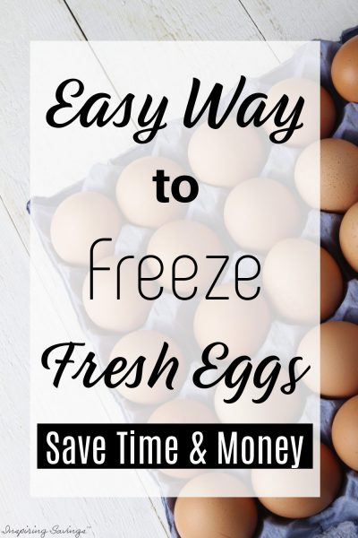 Freeze Fresh Eggs