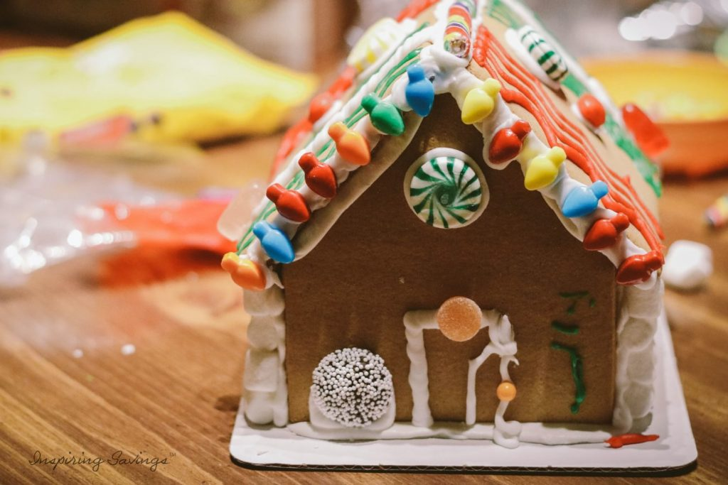 Gingerbread house made by kids. Gingerbread house cookie mix recipe