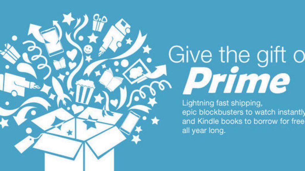 Amazon Prime as a gift option
