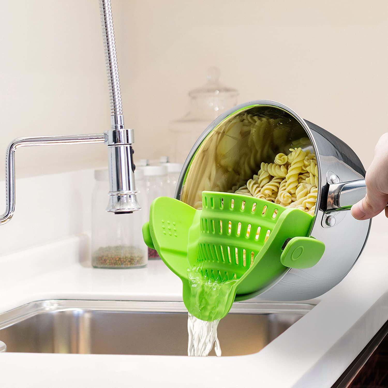 kitchen gizmo snap N strain strainer - fun kitchen gadgets that work