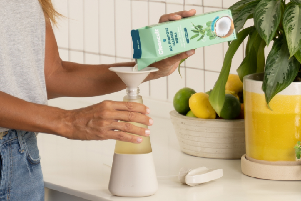 Cleancult Eco-Friendly Cleaners - refillable glass bottles