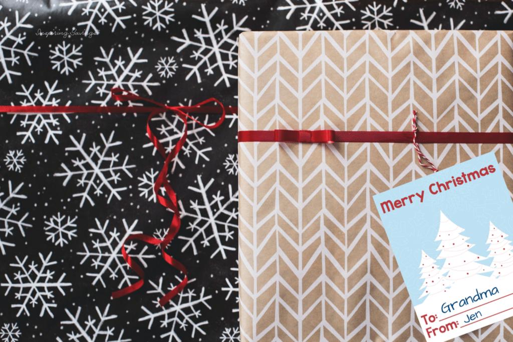presents with Merry Christmas Printable Tags